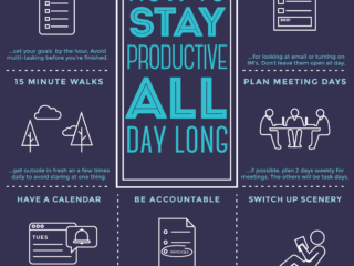 INFOGRAPHIC: How to Be Productive All Day Long