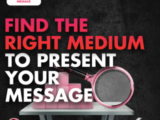 Find the Right Medium to Present Your Message